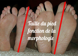 Mesure du pied pour taille de chaussure