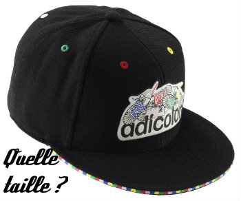 Taille casquette visière plate 59 fifty