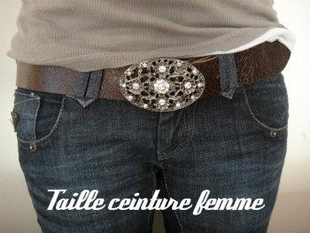 Taille ceinture femme