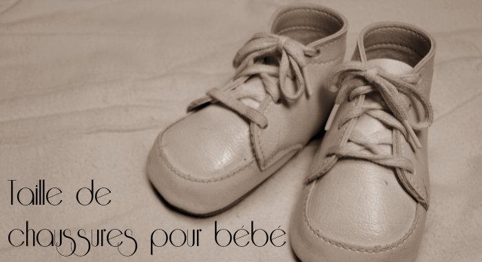 Taille de chaussures bébé